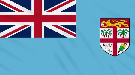 suva : Republic of Fiji flag waving cloth, ideal for background, loop Stock Footage