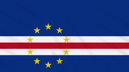 proportions : Cape Verde flag waving cloth, ideal for background, loop