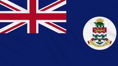 georgetown : Cayman Islands flag waving cloth, ideal for background, loop