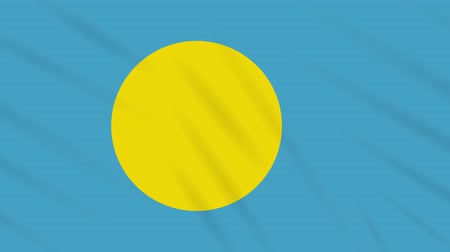 final round : Palau flag waving cloth, ideal for background, loop