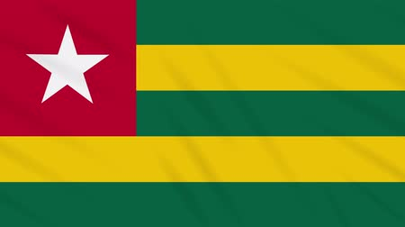 final round : Togolese Republic - Togo flag waving cloth, ideal for background, loop