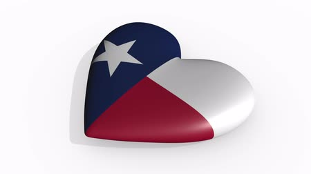 alkotmány : Texas heart beats and casts a shadow, loop.