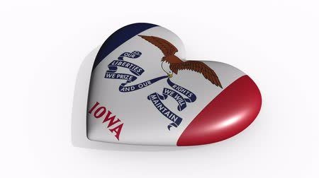 iowa : Iowa heart beats and casts a shadow, loop.