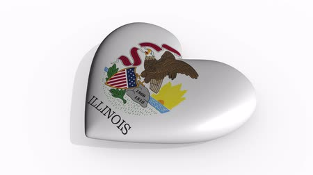 nationality : Illinois heart beats and casts a shadow, loop. Stock Footage