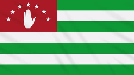 world cup : Abkhazia flag waving cloth, ideal for background, loop. Stock Footage