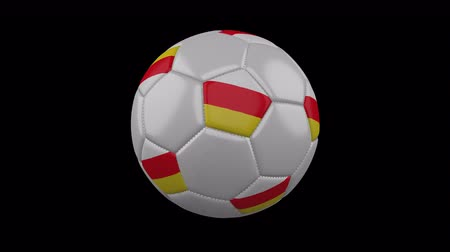 South Ossetia flag on a ball rotates on a transparent background, 4k prores footage with alpha transparency, loop