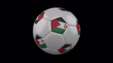 costuras : Western Sahara - Sahrawi Arab Democratic Republic flag on a ball rotates on a transparent background, 4k prores footage with alpha transparency, loop