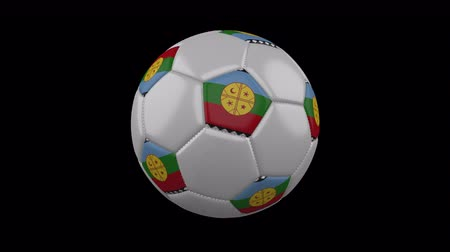 costuras : Mapuches flag on a ball rotates on a transparent background, 4k prores footage with alpha transparency, loop