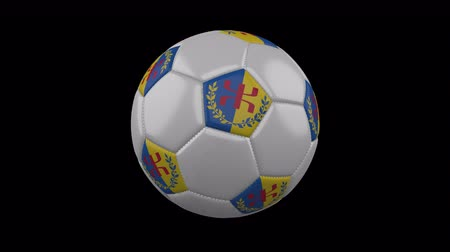 rotates : Kabylia flag on a ball rotates on a transparent background, 4k prores footage with alpha transparency, loop