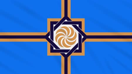 world cup : Western Armenia flag waving cloth, ideal for background, loop. Stock Footage