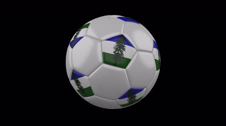 Cascadia flag on a ball rotates on a transparent background, 4k prores footage with alpha transparency, loop