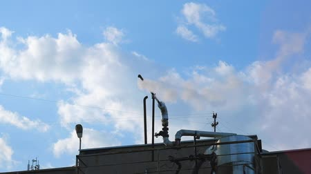 экологически : Pollution Air ,industry, industrial Enterprises, on a background sky