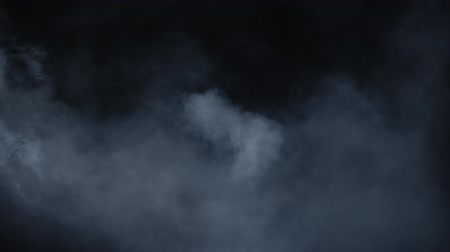 visual effect : Slow-motion Dry Ice Smoke Clouds Fog Overlay. VFX atmosphere insert element. Haze background. Abstract smoke cloud. Smoke in slow motion on black background.