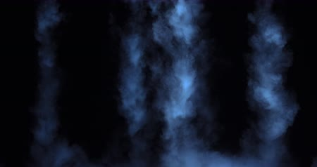 インサート : Slow-motion Dry Ice Smoke Clouds Fog Overlay. VFX atmosphere insert element. Haze background. Abstract smoke cloud. Smoke in slow motion on black background.