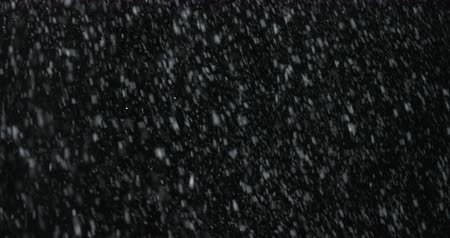 Heavy VFX Snowstorm on black screen