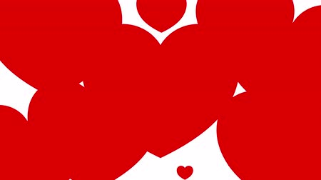 broşür : Heart background Animation. Red heart appear and disappear with moving animation. Valentine day concept. Stok Video