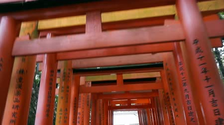 vanish : Red gate torii at Fushimi Inari temple shrine in Kyoto, Japan