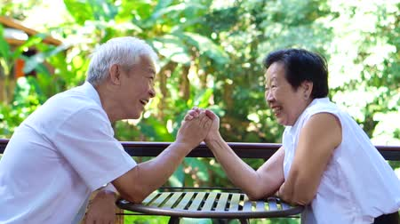 lasting : Video secret of lasting love. Asian senior comply, give in to each other in life