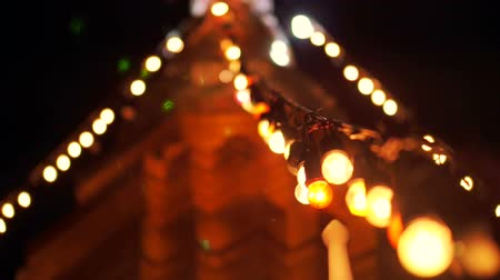 yeepeng : Festival light at Asian pagoda. Buddhist Religious day celebration