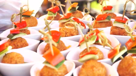 gastronomie : Fisch Ball Fingerfood Catering für Cocktail-Party Videos