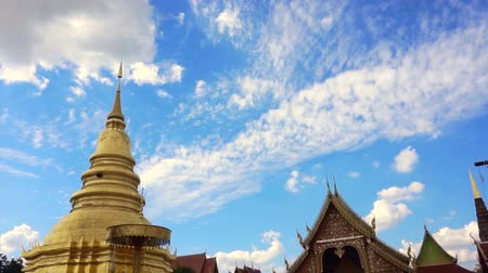 templom : Pagoda and temple in North of Thailand, Lamphun