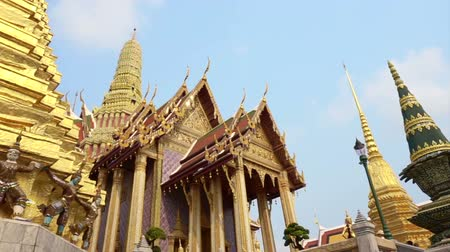 kaew : Wat Phra Kaew, Grand Palace, Bangkok Landmark of Thailand Stock Footage