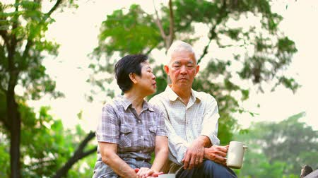 counselling : Asian senior couple having serious discussion. Life planning, financial and family issue