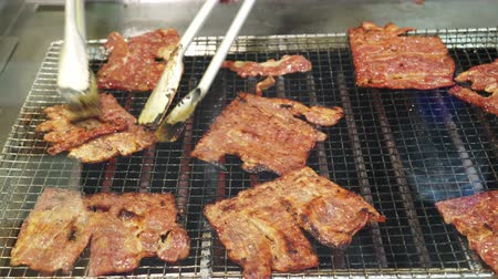 chinese culture : Bak Kwa Chinese sweet barbecue pork famous souvenir