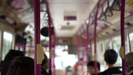 inside bus : Singapore Bus Interior Good City Public Transportation Stock Footage