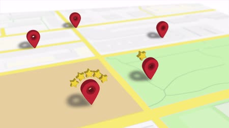 マーカー : Favourite Location Rating Popular Pin On Map Animation