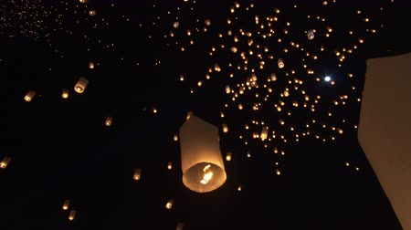 peng : Thailand Festival Night Sky With Thousand Of Lanterns Yi Peng