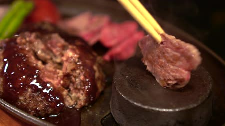 eye piece : Cooking Wagyu Beef Steak With Heat Stone