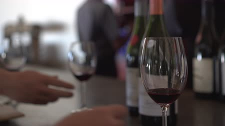 sommelier : Wine Testing Pouring From Different Bottles Video