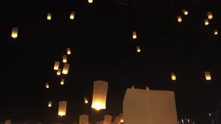 peng : Yipeng latern festival in Thailand mass floating