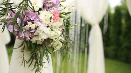 silvery : Flowers on the wedding arch