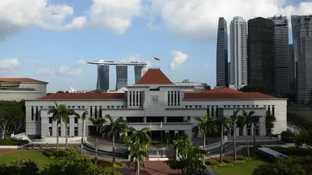 microstock : Singapore, 25 Feb 2016: New Parliament House with skyline in background.