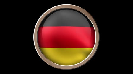 Germany flag isolated on black. Seamless looping