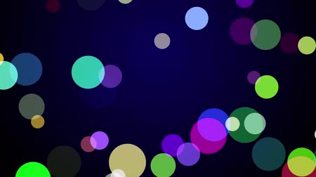 absolwent : Colorful confetti falling on a dark blue background Wideo
