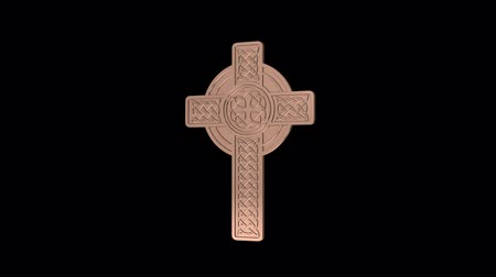 pohanský : Celtic Cross Revolves around the axis. Seamless looping. Luma matte