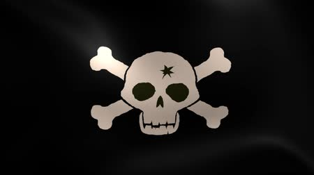 piraterie : Jolly Roger Pirate Ship Flag. Boucle parfaite