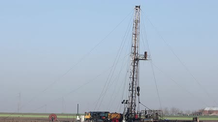 rigs : land oil drilling rig on oilfield