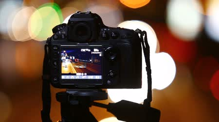 filmagens : Digital SLR camera. Video production backstage. Stock Footage