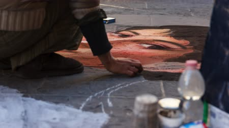 paintbox : the street artist par excellence the pavement artist