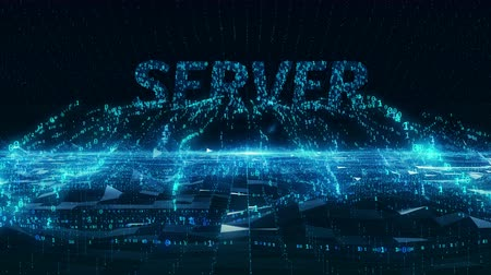 databáze : Server internet information mobile blue digital concept 4k uhd