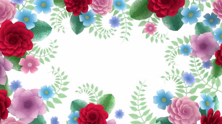 neve : Toon flowers growing, appearing, botanical background, decorative frame, blank space for text, pencil style cartoon, diy project, intro, isolated on white background, ideal for title