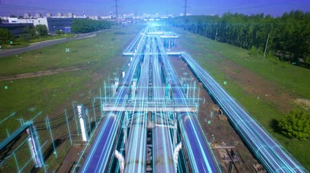 chp : AERIAL Pipes with hot water. Heat carrier steel pipes from CHP, heat and power centers supply heat and water to the city. Infographics and motion design illustrates the energy flows through the pipes. Stock Footage