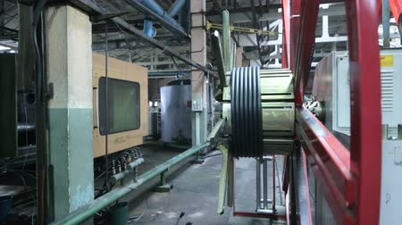 granulação : Production process of plastic pipes. Plastic recycling
