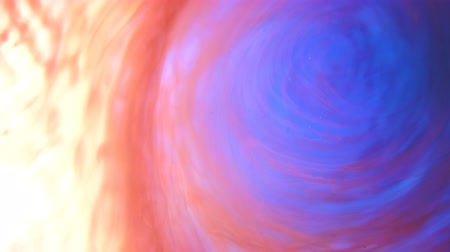 whirlpool : Abstract colorful vortex. Blue and orange inks motion. Lens flare moving in a swirl of liquid paints Stock Footage