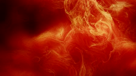 rozptyl : Ink swirling. Flowing red paints. Spreading fire animation effect.