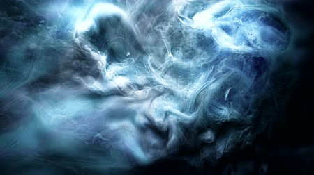 rozptyl : Ink swirling motion. Abstract underwater volcano explosion. Blue mixing smoke effect Dostupné videozáznamy